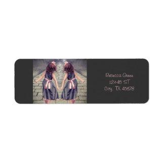 vintage alice in wonderland girls fairy garden return address labels