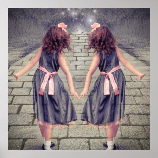 Vintage Alice In Wonderland Girls Fairy Garden Poster Zazzle