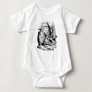 Vintage Alice in Wonderland, Gryphon, Mock Turtle Baby Bodysuit