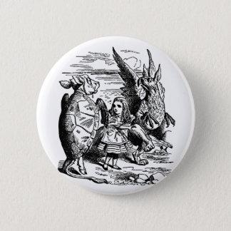 Vintage Alice in Wonderland, Gryphon, Mock Turtle Button
