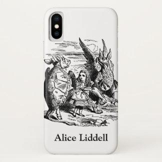 Vintage Alice in Wonderland, Gryphon, Mock Turtle iPhone X Case