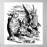 Vintage Alice in Wonderland, Gryphon, Mock Turtle Poster