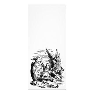 Vintage Alice in Wonderland, Gryphon, Mock Turtle Rack Card