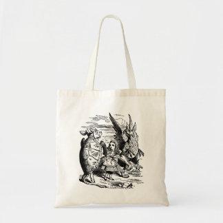 Vintage Alice in Wonderland, Gryphon, Mock Turtle Tote Bag