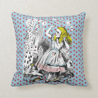 Vintage Alice in Wonderland Heart Attack Cushion