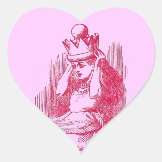 Vintage Alice in Wonderland Heart Sticker