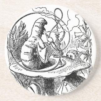 Vintage Alice in Wonderland Hookah Caterpillar Drink Coaster