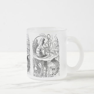 Vintage Alice in Wonderland Hookah Caterpillar Frosted Glass Coffee Mug