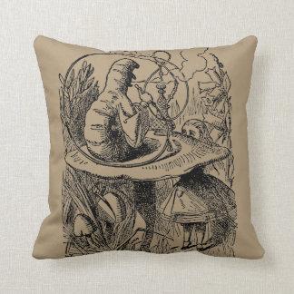 Vintage Alice in Wonderland Hookah Caterpillar Throw Pillow