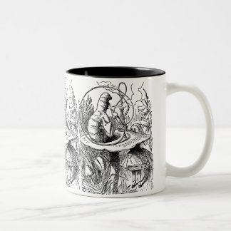 Vintage Alice in Wonderland Hookah Caterpillar Two-Tone Coffee Mug