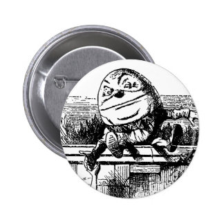 Vintage Alice in Wonderland, Humpty Dumpty on Wall Button