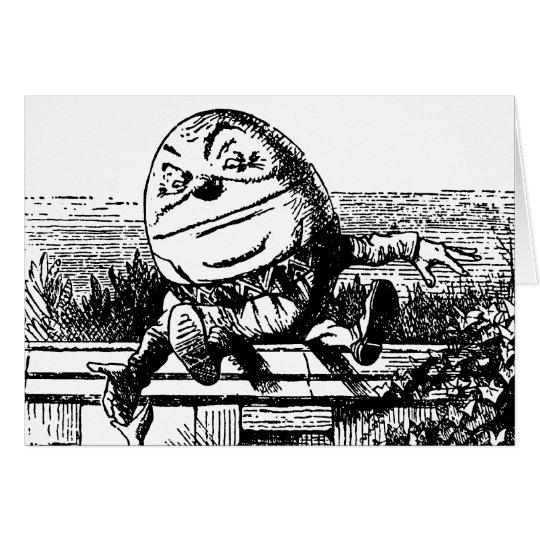 Vintage Alice in Wonderland, Humpty Dumpty on Wall Card