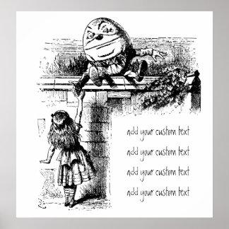 Vintage Alice in Wonderland, Humpty Dumpty on Wall Poster