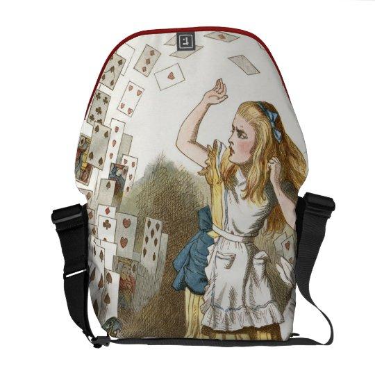 Vintage Alice in Wonderland illustration Courier Bag