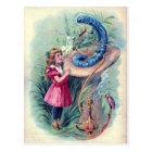 Vintage Alice in Wonderland Illustration Postcard