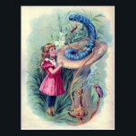 "Vintage Alice in Wonderland Illustration Postcard<br><div class=""desc"">This Alice in Wonderland postcard has a vintage image of Alice talking to the caterpillar. A cute vintage postcard for fans of the fairy tale.</div>"