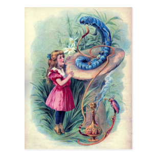Vintage Alice in Wonderland Illustration Postcard