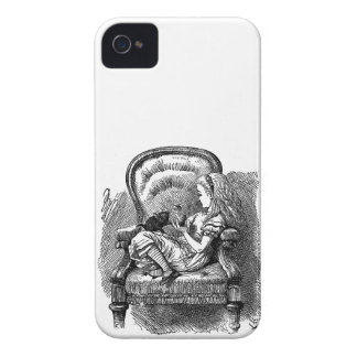 Vintage Alice in Wonderland in chair book drawing iPhone 4 Case-Mate Cases