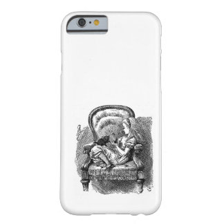 Vintage Alice in Wonderland in chair book drawing iPhone 6 Case
