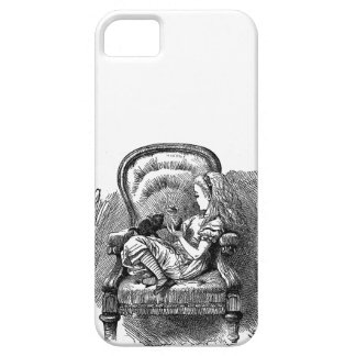 Vintage Alice in Wonderland in chair book drawing iPhone 5 Cover