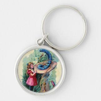 Vintage Alice In Wonderland Keychain