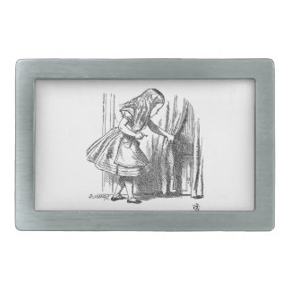 Vintage Alice in Wonderland looking for the door Belt Buckle