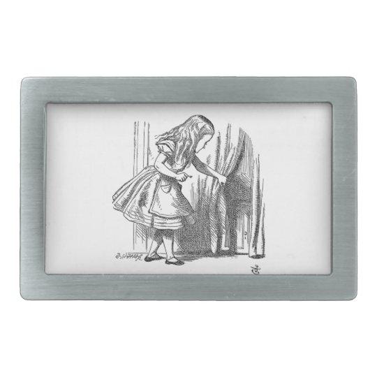 Vintage Alice in Wonderland looking for the door Belt Buckle