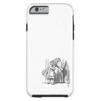Vintage Alice in Wonderland looking for the door Tough iPhone 6 Case