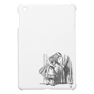 Vintage Alice in Wonderland looking for the door Cover For The iPad Mini