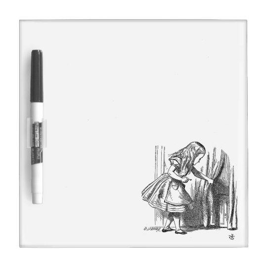Vintage Alice in Wonderland looking for the door Dry Erase Board