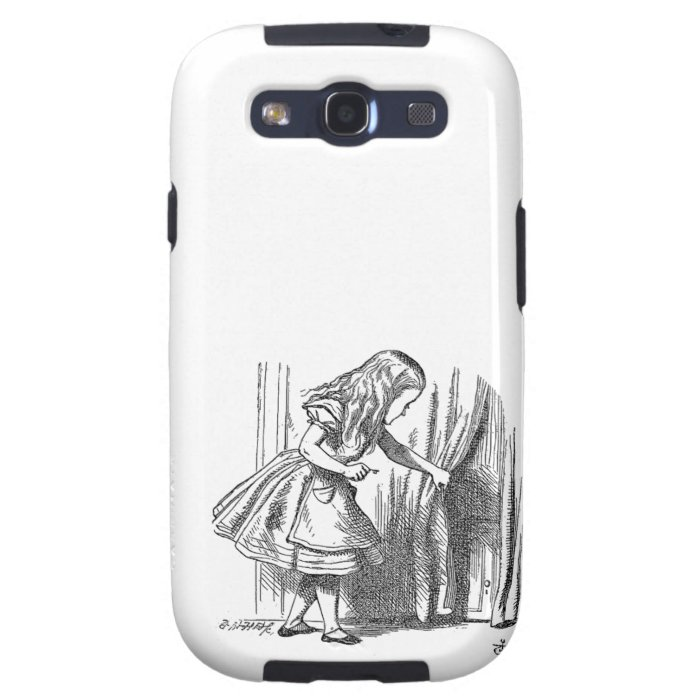 Vintage Alice in Wonderland looking for the door Galaxy S3 Case