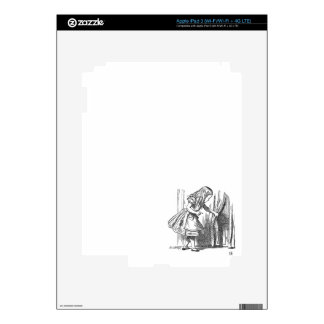 Vintage Alice in Wonderland looking for the door iPad 3 Decals