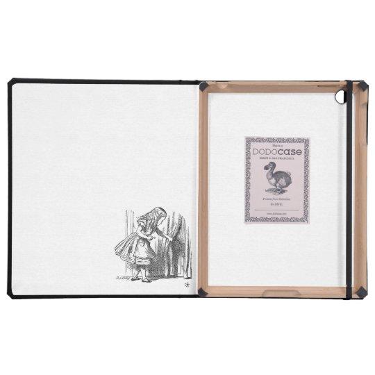 Vintage Alice in Wonderland looking for the door iPad Cases