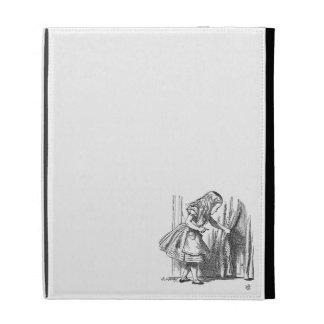 Vintage Alice in Wonderland looking for the door iPad Folio Cases