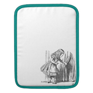 Vintage Alice in Wonderland looking for the door iPad Sleeve