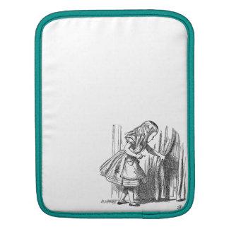Vintage Alice in Wonderland looking for the door iPad Sleeve