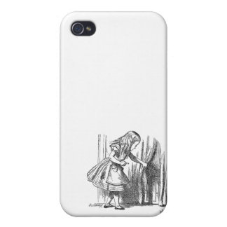 Vintage Alice in Wonderland looking for the door iPhone 4/4S Cover