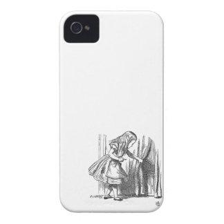 Vintage Alice in Wonderland looking for the door iPhone 4 Case