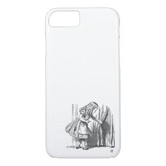 Vintage Alice in Wonderland looking for the door iPhone 7 Case