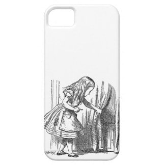 Vintage Alice in Wonderland looking for the door iPhone SE/5/5s Case