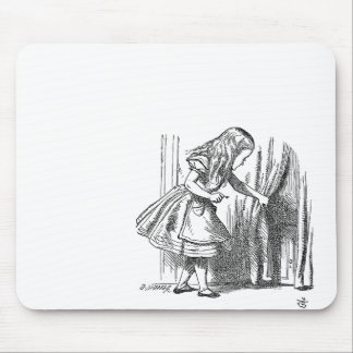 Vintage Alice in Wonderland looking for the door Mouse Pad