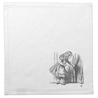 Vintage Alice in Wonderland looking for the door Napkin