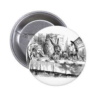 Vintage Alice in Wonderland Mad Hatter tea party Button