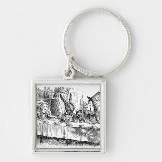 Vintage Alice in Wonderland Mad Hatter tea party Keychain