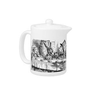 Vintage Alice in Wonderland Mad Hatter tea party Teapot