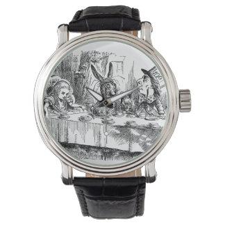 Vintage Alice in Wonderland Mad Hatter tea party Watches