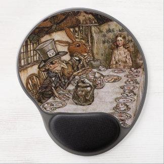 Vintage Alice in Wonderland Mad Hatter's Tea Party Gel Mouse Pad