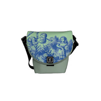 Vintage Alice in Wonderland Courier Bags