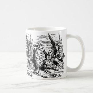 Vintage Alice in Wonderland, Mock Turtle, Gryphon Coffee Mugs