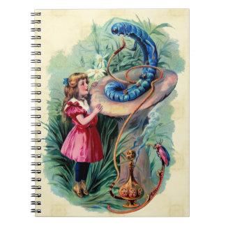 Vintage Alice In Wonderland Notebook